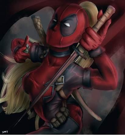 Deadpool Lady Fanart Deviantart Fan Deviant