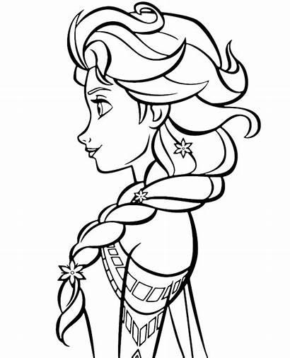 Coloring Elsa Profile Topcoloringpages