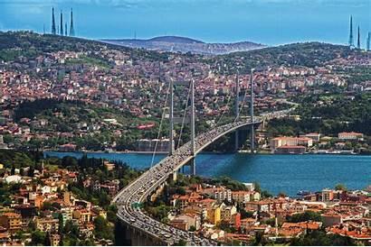 Istanbul Brug Landschap Bezienswaardigheden November Landscape Bridge