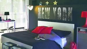 Décoration New York Chambre : une chambre d 39 ado au th me new york contemporain et citadin ~ Melissatoandfro.com Idées de Décoration