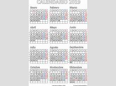 Calendario de México 2019 Imprimir el PDF Gratis