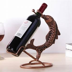 Wine, Rack, Wrought, Iron, Decorative, Creative, Hanging, Wine, Rack, Fish, Wine, Rack, Wine, Rack, Holder, For