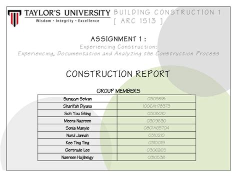building construction report