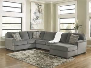loric 12700 smoke grey sectional sofa living spaces ashley