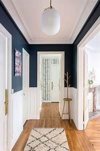 couloir astuces deco peinture papier peint cote maison With awesome couleur pour couloir sombre 4 deco du couloir en l sol sombre