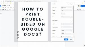 How To Print Double Sided On Google Docs