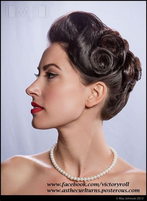1940s Hairstyles Updo by 1940s Updo Www Victoryroll Www Asthecurlturns
