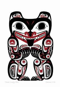 Haida Grizzly Bear by Clarence Mills | Tlingit | Pinterest ...