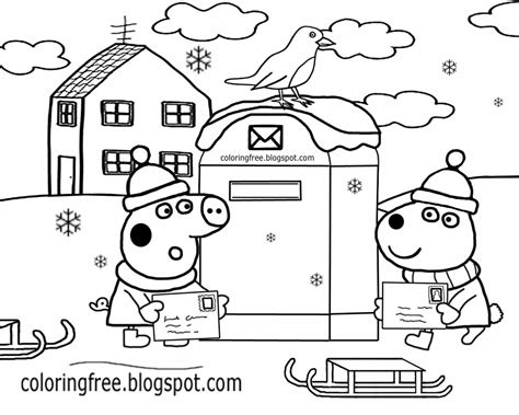 Peppa Pig House Coloring Pages 16364