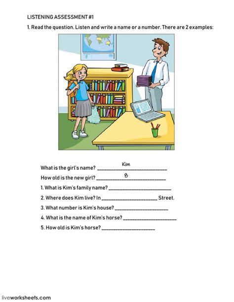 listening comprehension interactive  downloadable
