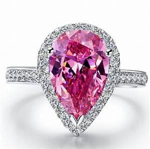 pink 3k diamond rings wedding promise diamond With 3k wedding ring
