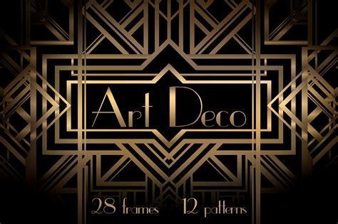 Art Deco Frames And Patterns