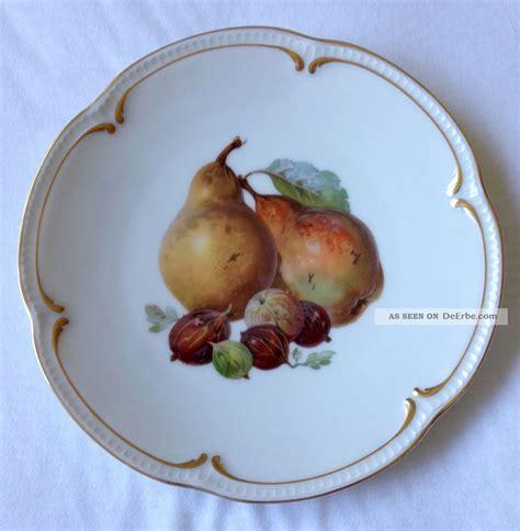 4 alte dessert obstteller porzellan bavaria tirschenreuth quot fr 252 chte