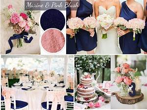 wedding color trends blue and pink navy blue and blush With pink and blue wedding ideas
