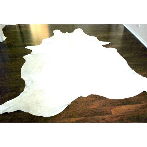 White Cowhides by All White Cowhide Rug For Sale