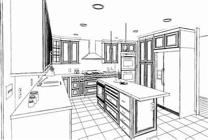Furniture Coloring Pages Kitchens Colorers Advanced Interiors