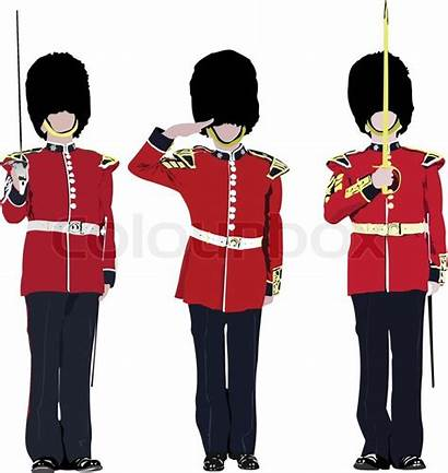 London Guards Beefeater Vector Clipart England Guard