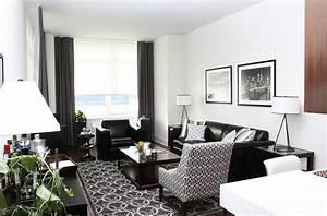 Black Living Room Furniture Decorating Ideas Seat