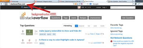 css   change backgrond color   website page