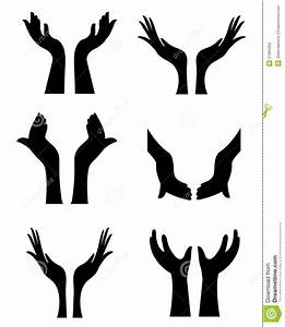 Open Hands Clipart Black And White | Clipart Panda - Free ...