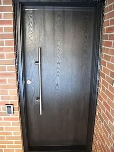 Modern, Contemporary, Front, Entrance, Door, Woodgrain, Single, Door, Installed, By, Modern