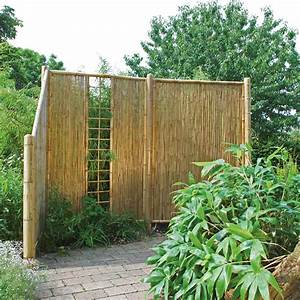 sichtschutzwand bambus sichtschutzelement zen spalier With französischer balkon mit zen garten rechen kaufen