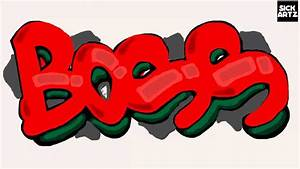 HOW TO DRAW GRAFFITI BOSS SPEED PAINTING TUTORIAL SKETCH ...