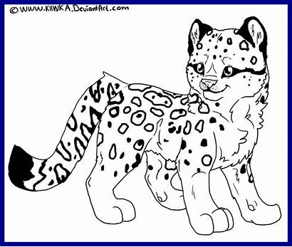 Snow Dog Clipart Coloring Pages Leopard Incredible