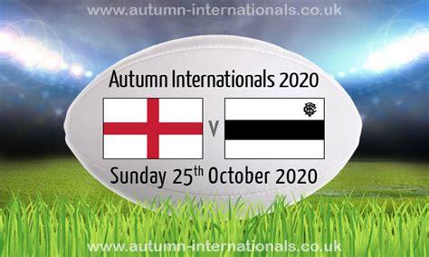 England v Barbarians | Autumn International | 25 Oct 2020