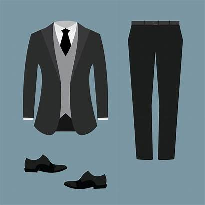 Tuxedo Vector Suit Clipart Template Card Illustration