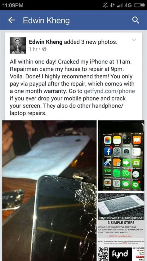 phone repair customers testimonials fynd