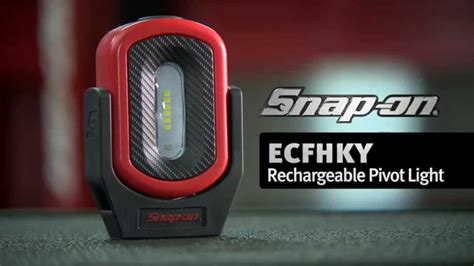 snap on rechargeable work light rechargeable pivot light ecfhky snap on tools youtube