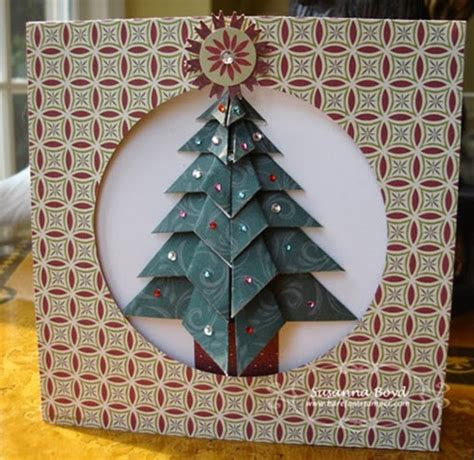 origami maniacs tea bag folding christmas tree card