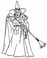 Coloring Witch Pages Wicked West Getdrawings sketch template
