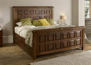 Traditional Solid Wood Bed