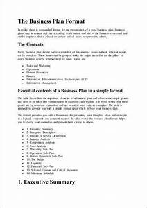 How To Write A Business Plan Sample Business Plan Format1