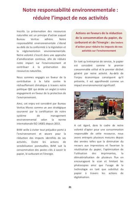 maroc bureau rapport rse de bureau veritas maroc 2015 2016