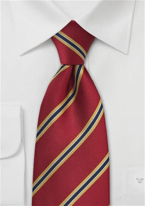 regimental tie  red yellow navy bows  tiescom