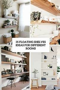 35, Floating, Shelves, Ideas, For, Different, Rooms