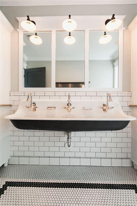 Kohler Trough Sink Bathroom by Koehler Brockway Sink Tile Bathe Bathroom Bath Sink