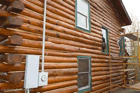 log cabin stain log home restoration log home care