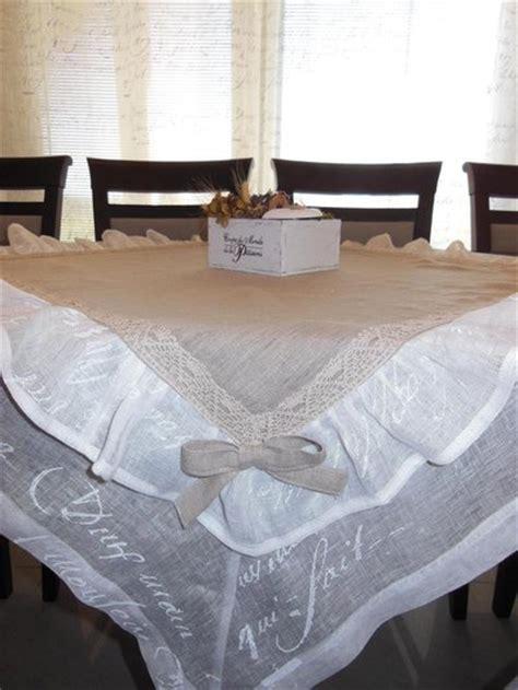 Tovaglia in lino in stile shabby chic - Per la casa e per