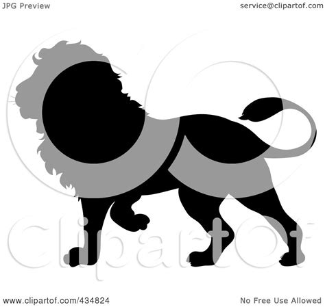 royalty free rf clipart illustration of a black silhouette by pams clipart 434824