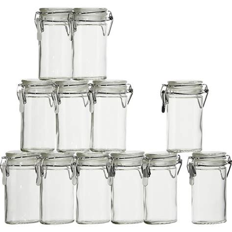 Mini Spice Jars by Set Of 12 Mini Oval Spice Herb Jars With Cl 4 Quot High 2