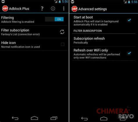 stop ads on android adblock su android senza root guida completa chimera revo