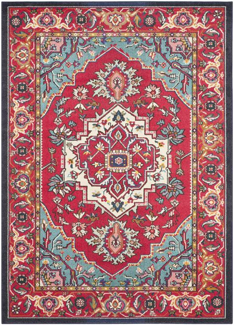 what does safavieh safavieh monaco mnc207c and turquoise area rug free