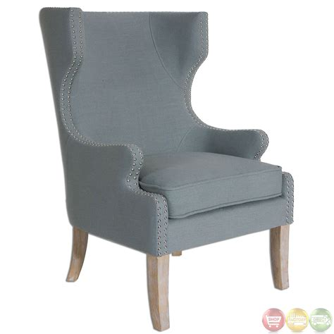 graycie traditional high back wing chair 23136