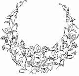 Border Flower Coloring Pages Corner Floral Getdrawings Embroidery Pattern sketch template