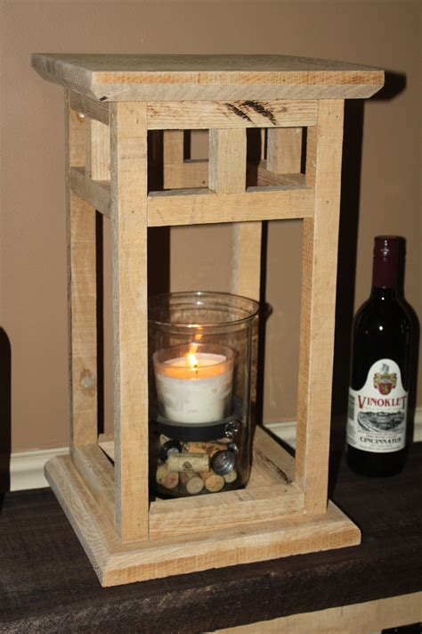diy rustic wood lantern project   pallets