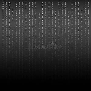 Black And White. Algorithm Binary Code With Digits On ...